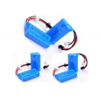 Wholesale Blue PVC Wrap Medical Equipment  Battery 7.4V 650mah With PCM / Connector from china suppliers