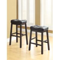 """Wholesale Milano 25H""""  Black Leather Bar Stools With Bottom StretcherKick Plate from china suppliers"""