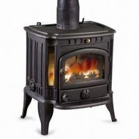 Quality Cast Iron Stove with Grate, Guard Spark and Ash Box, Measures 58.5 x 47 x 70.5cm for sale