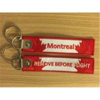 Buy cheap Montreal YUL Remove Before Flight  Embroidery Keychain Key Ring from wholesalers