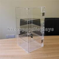Wholesale Lockable 4 - Layer Clear Acrylic Display Tower Desktop Waterproof Display Case from china suppliers