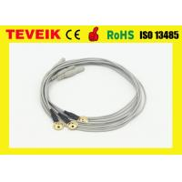 Wholesale Customize Flexible Soft EEG Cable With Gold Plated Copper Cup , eeg electrodes from china suppliers