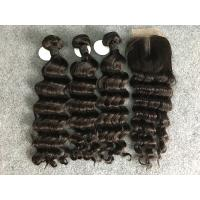 Wholesale Virgin Loose Deep Wave 100% Brazilian Virgin Hair With Closure Natural Color from china suppliers
