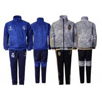 Wholesale Real Madrid Champions League Children Kid Soccer Jacket Set UEFA Training Suit from china suppliers