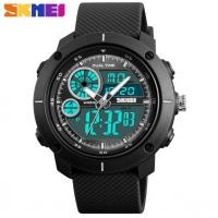 Buy cheap Skmei Yong Fashion Dual Time Chronograph Stopwatch PU Strap 5 ATM Waterproof  Wrist Watches  1361 from wholesalers