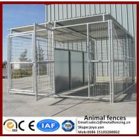 Wholesale Gate with galvanized big animal cages metal waterproof pens for large pets modular assembled strong dog run kennels from china suppliers