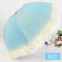 Wholesale New Women Lace Princess Folding Anti-UV Parasol Umbrella for Sun Protection from china suppliers