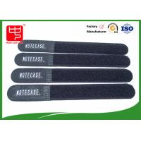 Wholesale Black dirty resistance hook and loop ties , hook and loop strap For Wires Clearing Up round ending from china suppliers