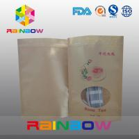 Wholesale Stand Up Simple Brown Kraft Paper Snack Bag With Clear Window from china suppliers