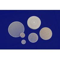 Wholesale Strong Corrosion Resistance Against Acid And Alkali Honeycomb Ceramic Round Plate from china suppliers