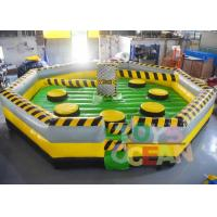 Wholesale 7 * 7m Inflatable Interactive Games inflatable Meltdown Wipeout Eliminator Sweeper Game from china suppliers