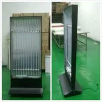 Wholesale 60x160cm  black indoor signage free stand  directional illuminated signage stands super brightness 2 sides totem display from china suppliers