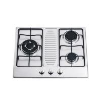 Wholesale Kitchen Stainless Steel 3 Ring Gas Hob / Gas Cooktop Support NG / LPG 590*510mm from china suppliers