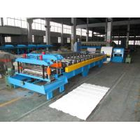 Wholesale Roofing Panel / Glazed Tile Roll Forming Machine With 12 Roll Station from china suppliers