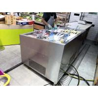 Wholesale Butcher Shop Fruit Store Deli Food Display Cooler Chiller  Flip Or Non - Flip Cover SS from china suppliers