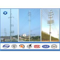 Wholesale 35KV Single / Double Circuits Hot Dip Galvanized Steel Pole For Electric Transmission from china suppliers