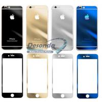 Wholesale Mirror Colored Tempered Glass Full Cover For Iphone 6 Plus Front Back from china suppliers