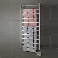 Wholesale 11 Bars square stainless steel wall mounted pratical  elegant  safety heated towel rail from china suppliers
