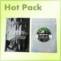 Wholesale BCPS Eco Friendly Small Aluminium Foil Sachets For Cannabis With Black Printing from china suppliers