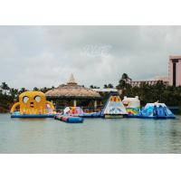 Wholesale Inflatable Cartoon Water Park / 0.9mm PVC Tarpaulin Water Aqua Park For 65 Persons from china suppliers
