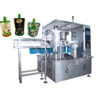 Wholesale Jam / Sauce / Milk Liquid Pouch Packing Machine With Injector , Stainless Steel Material from china suppliers
