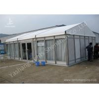 Wholesale White Lining Decorated Special Event Tents / Transparent Glass Wall Tents For Outdoor Events from china suppliers