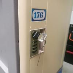 Wholesale Vandal Resistant ABS Plastic Locker 4 Tier Beige Door Gray Body For Factory from china suppliers