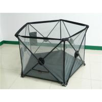 Wholesale Outdoor Safe Kids Playpen Fence For Summer With Double Locks , Black from china suppliers