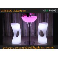 Wholesale Muti Colors Changable Led Light Stool Outdoor / Indoor With Remote Control , Plastic Materials from china suppliers