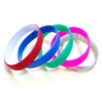 Quality Custom Dual UV silicone bracelets wristband for sale