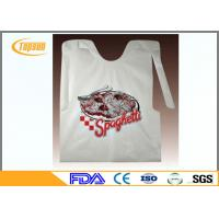 Wholesale Colorful Disposable Plastic Seafood Bibs / Restaurant Disposable Plastic Wear from china suppliers