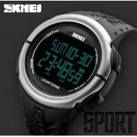 Quality Skmei Men Multi-function 5 ATM Outdoor Sport Watches Alarm Chrono Count Down PU Band Watches 1286 for sale