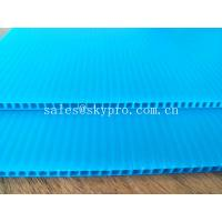 Quality Blue Dirt - proof Polypropylene Hollow Sheet Durable PP Corrugated Plastic Boards for sale
