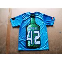 Quality Jersey Sublimated Sportswear , Brilliant Colors Short Sleeve for sale
