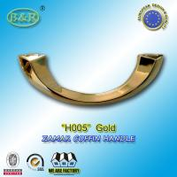 Wholesale H005 gold color Italy design moon shape metal coffin handle zamak coffin accessories  size 20.5*7.5cm from china suppliers