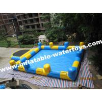 Wholesale 0.6mm PVC Tarpaulin Inflatable Water Pools with step and Pillar and Net for amusement park from china suppliers