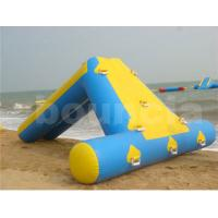 Wholesale 0.9mm PVC Tarpaulin Inflatable Water Slide For Seaside Use from china suppliers