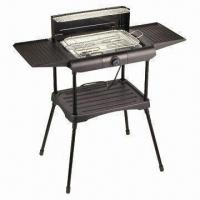 China 2,000W Outdoor/Indoor BBQ Grill with 2 Wings, CE-/RoHS-compliant, Measures 560 x 370 x 820mm on sale