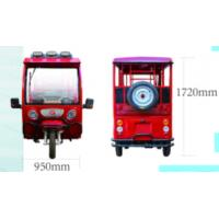 Buy cheap 1280W / 1800W Open Electric Passenger Tricycle With Half Closed Cabin from wholesalers