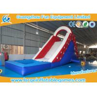 Wholesale Single Lane Super Clown Inflatable Water Slide With Logo Printing , CE Certificate with pool from china suppliers