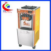 Wholesale Freestanding Soft Ice Cream Maker For Home / Three Flavor Ice Cream Making Equipment from china suppliers