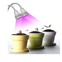 Wholesale LED Plant Grow Light 10W Dual Head 360 Flexible Adjustable Gooseneck for Indoor Plants, Greenhouse, Hyd from china suppliers
