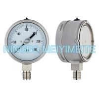 Wholesale Adjustable Pointer Stainless Steel Pressure Gauge Laser Argon Welding With Back Case from china suppliers