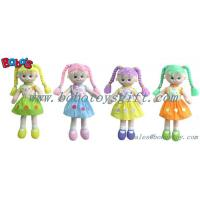 Wholesale Softest Baby Toy Smiling Face Girl Stuffed 3D Toy In Colorful Hair from china suppliers