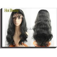 Wholesale Virgin Human Hair Full Head Lace Wigs With Baby Hair , Natural Hairline Human Lace Wigs from china suppliers