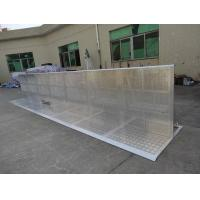 Wholesale 30kg Crowd Control Barriers Easy Assemble Concert Pedestrian Silver Barrier from china suppliers