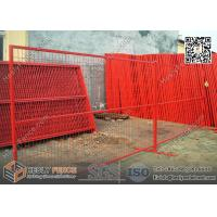 Wholesale 6ft high Portable Temporary Construction Fencing with RED color highly visible powder coat color from china suppliers