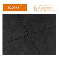 Buy cheap Black Glass Wool Ceiling Acoustic Non Combustible Insulation Board 600 * 1200 mm from wholesalers