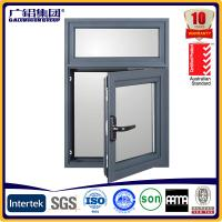 Buy cheap powder coating frames aluminium casement window with mosquito nets from wholesalers
