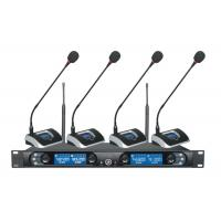Wholesale Professional Four Channels UHF PLL System Gooseneck Conference Wireless Microphones from china suppliers